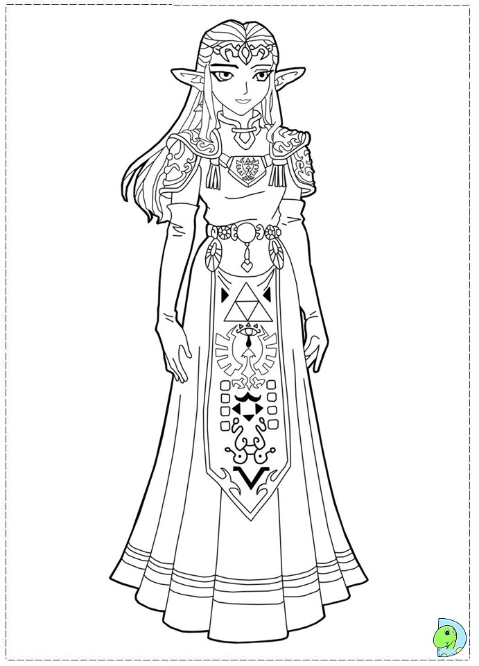 free zelda online coloring pages - photo#32