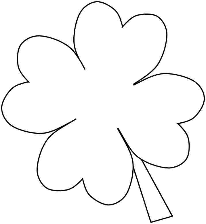 shamrock printable coloring pages - free printable shamrocks az coloring pages