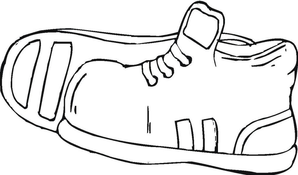 Printable Sport Shoes Coloring Pages | Kidskat. - ClipArt Best