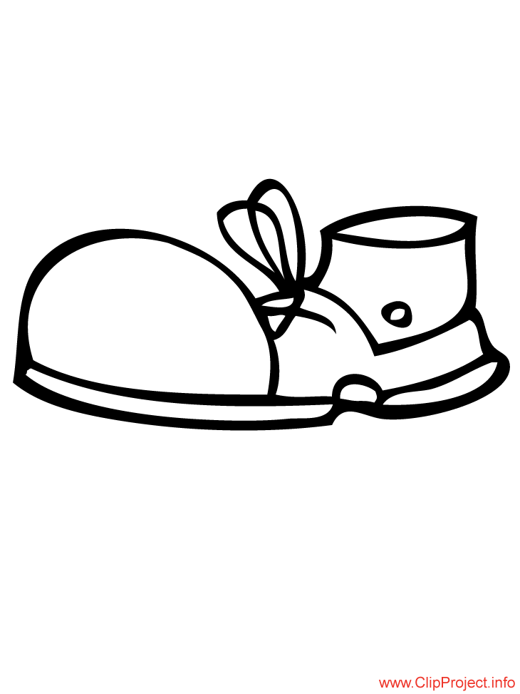 Shoe Colouring Pages The Best