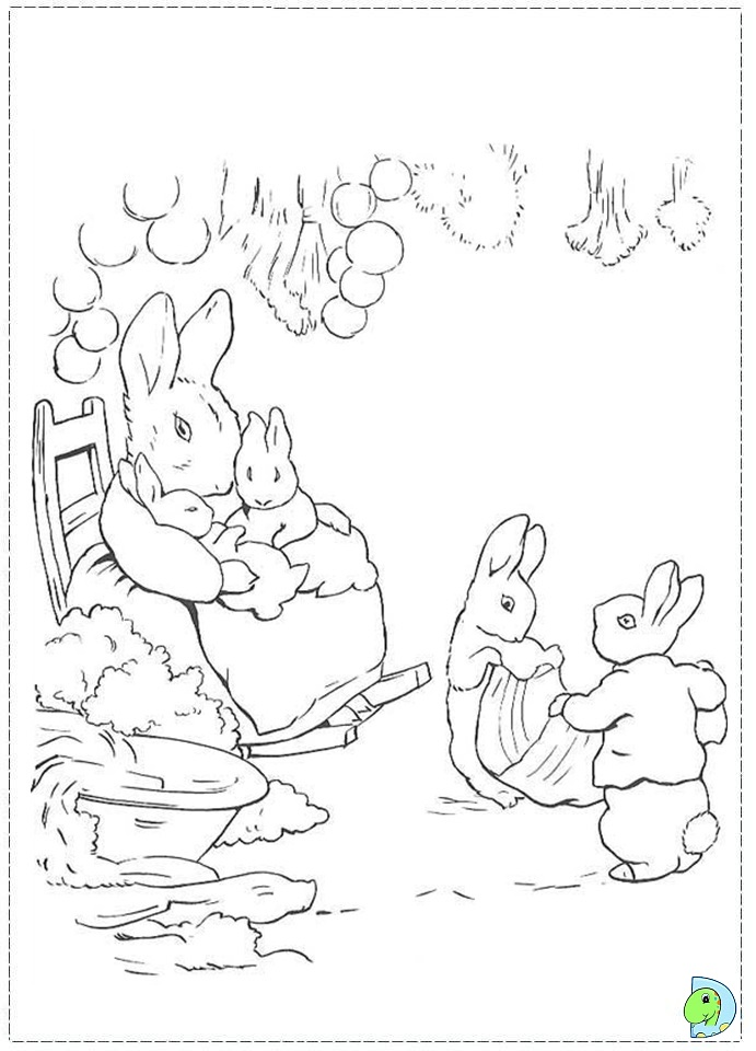 Peter Rabbit Coloring Pages AZ