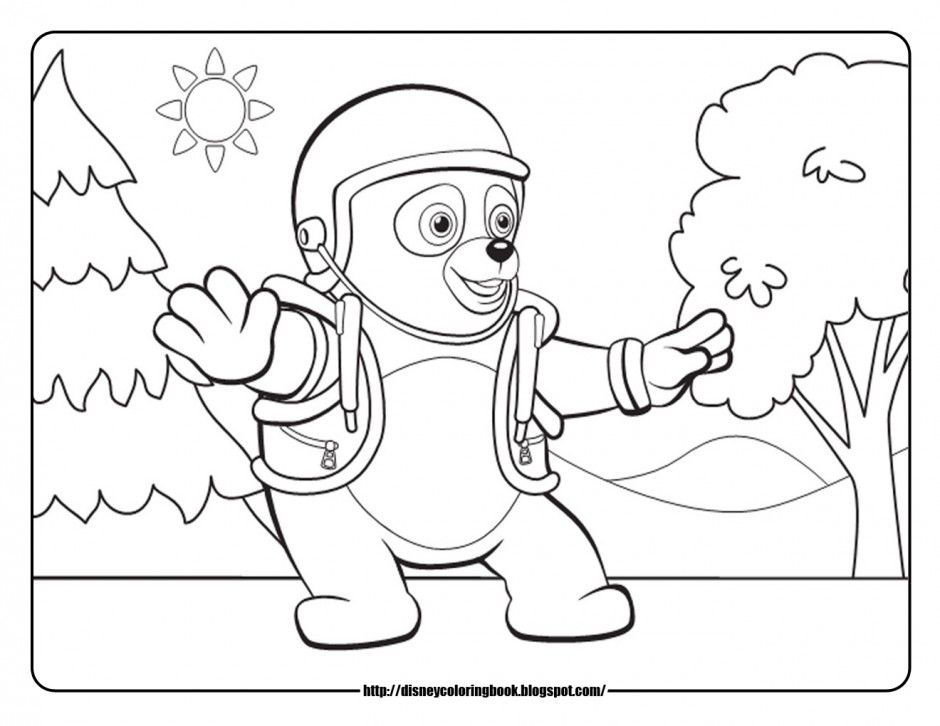 Special Agent Oso Coloring Pages Free  Coloring Home