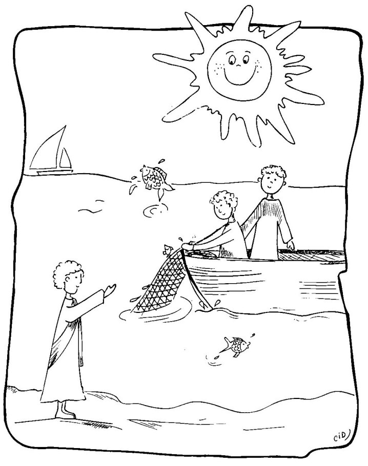 desciples of jesus coloring pages - photo#17