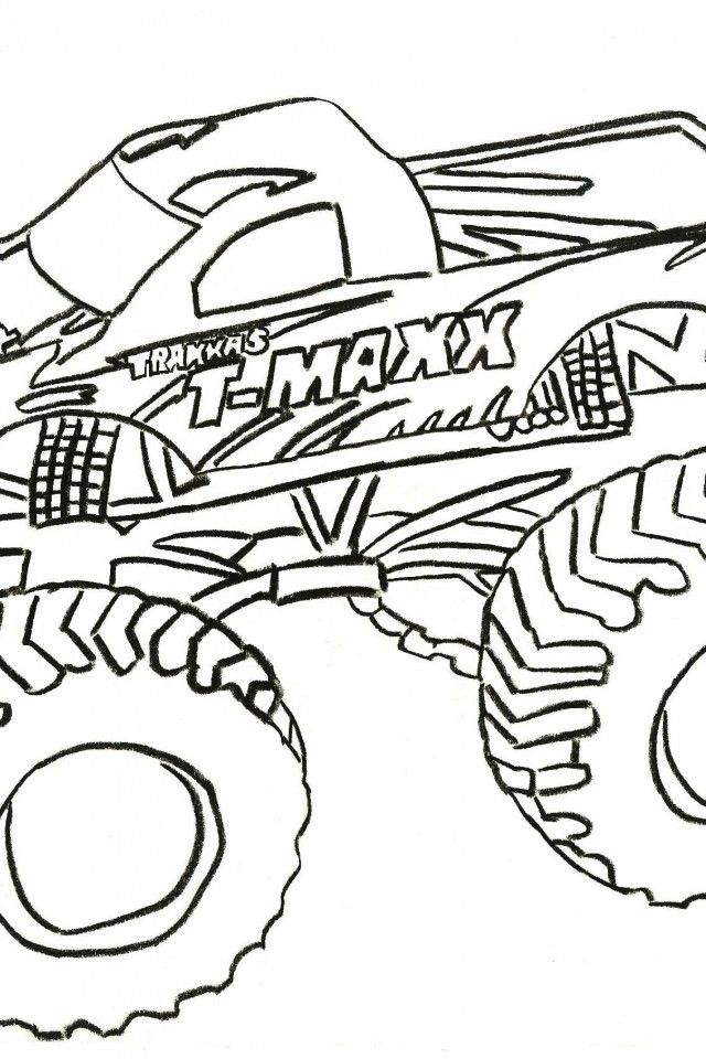 Monster Truck Color Pages | download free printable coloring pages
