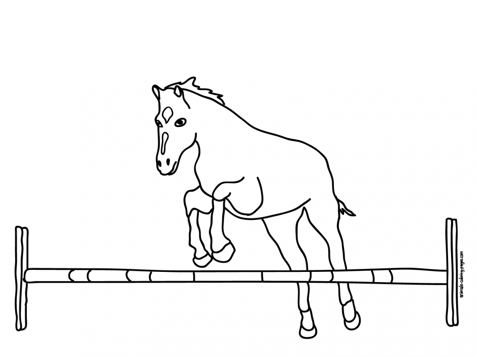 barrel racing coloring pages - photo#31