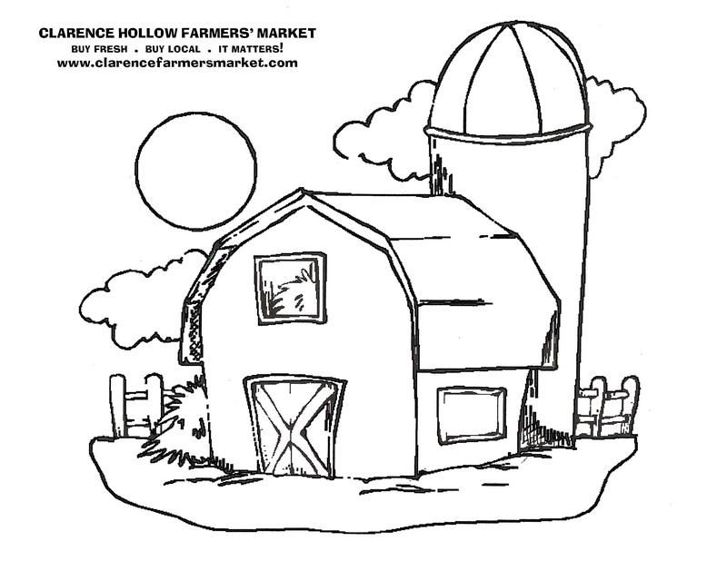 Barn Coloring Page - Coloring Home