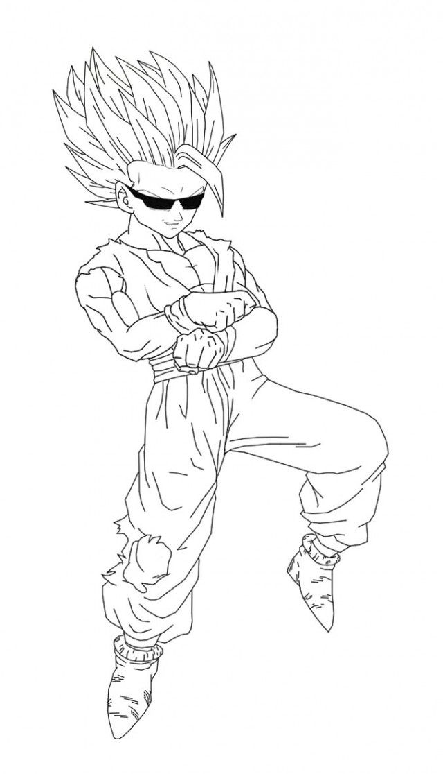 Gohan Coloring Pages Gohan Super Saiyan 4 Coloring Pages Kids