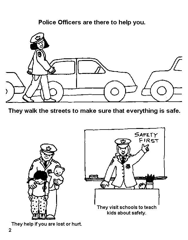 police road block coloring pages - photo#15