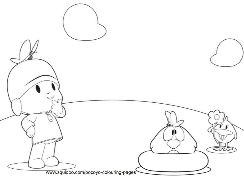 pocoyo coloring pages print
