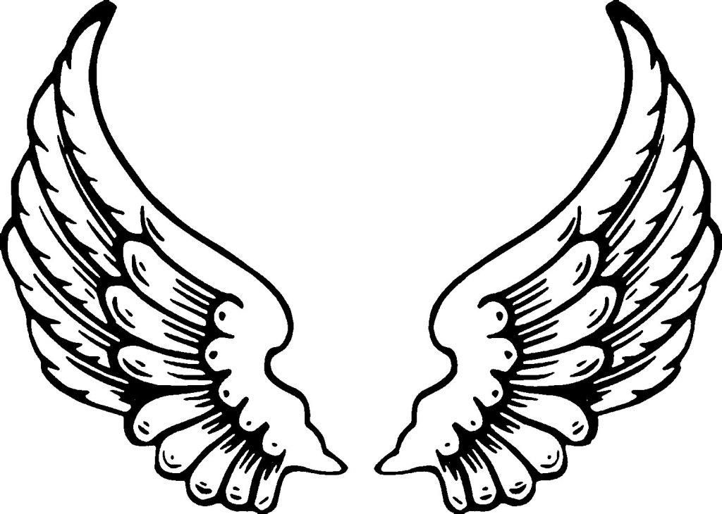 Angel Wing Coloring Pages - Printable Angel Coloring Pages
