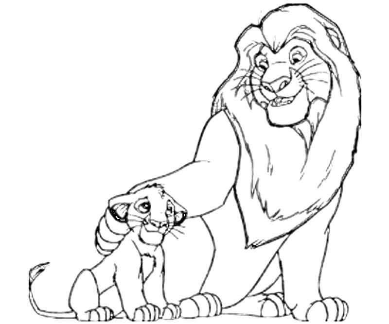 The Lion King Drawing Coloring Home Sketch of standing forest king lion outline editable vector illustration. the lion king drawing coloring home