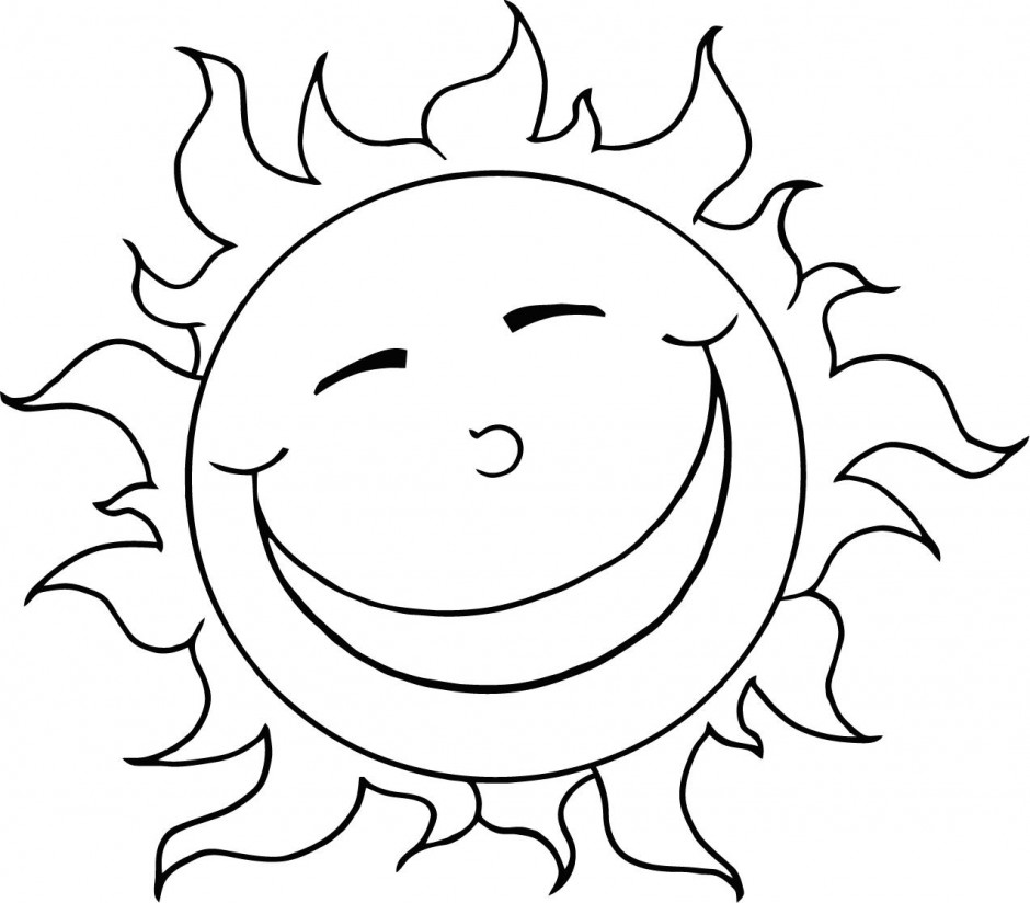 Vector Of Coloring Page Outline Design Happy Sun Id 23517 ...