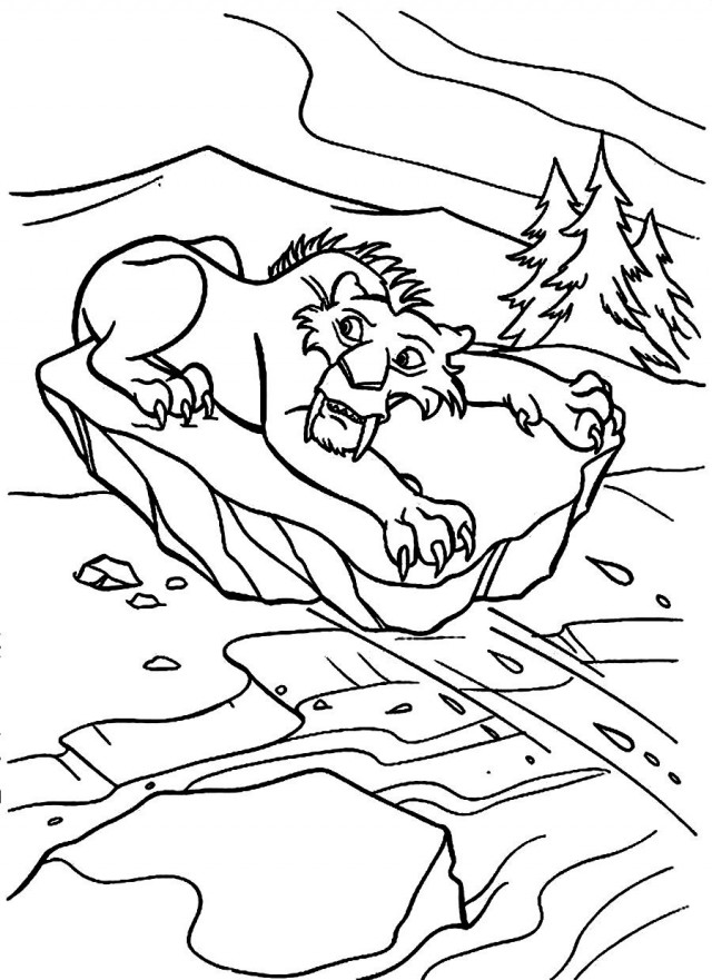 sabertooth tiger coloring pages - photo#34
