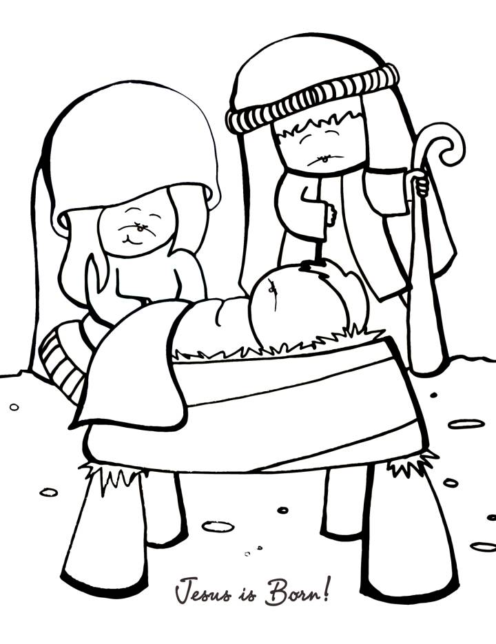 Jesus Birth Coloring Pages - Coloring Home