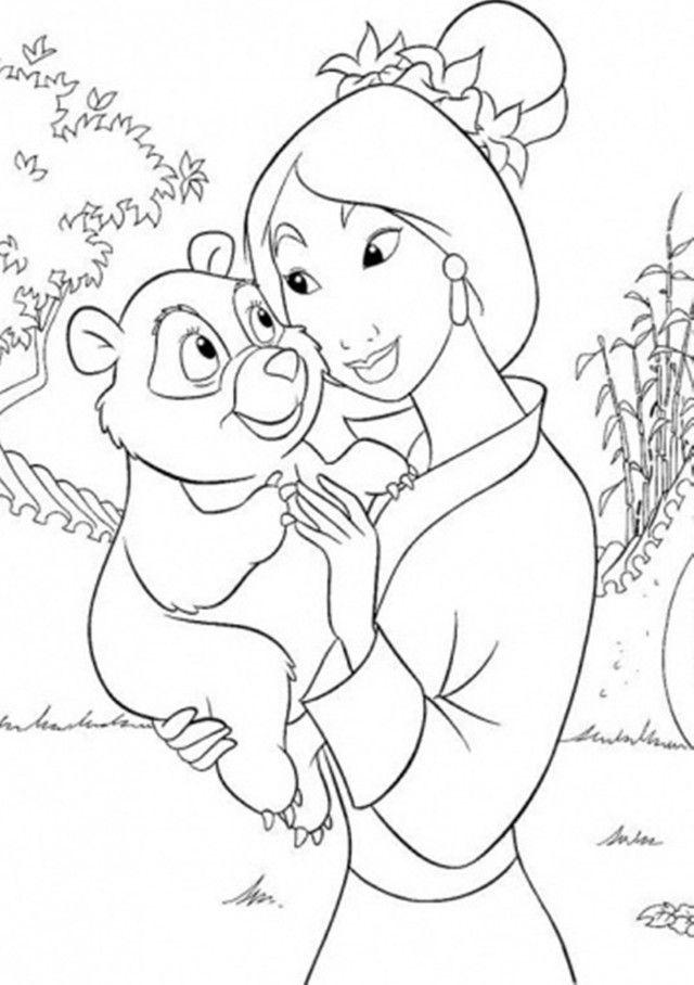 Mulan Coloring Pages Pdf : Mulan coloring pages disney kids