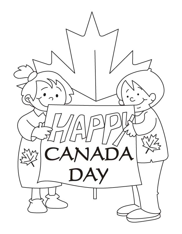 Our hopes are high Happy Canada day coloring pages | Download Free
