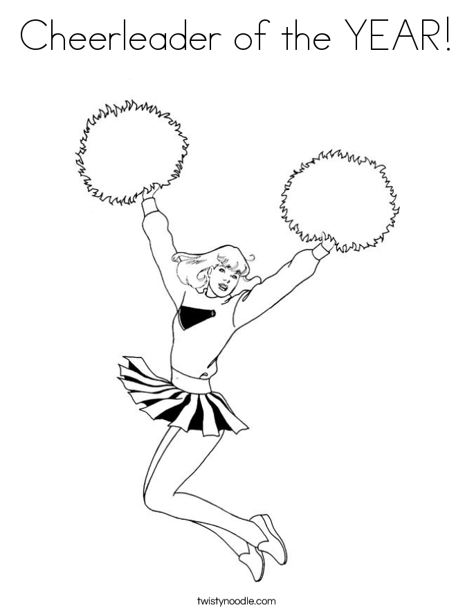 Printable cheerleading coloring pages coloring home for Printable cheerleading coloring pages