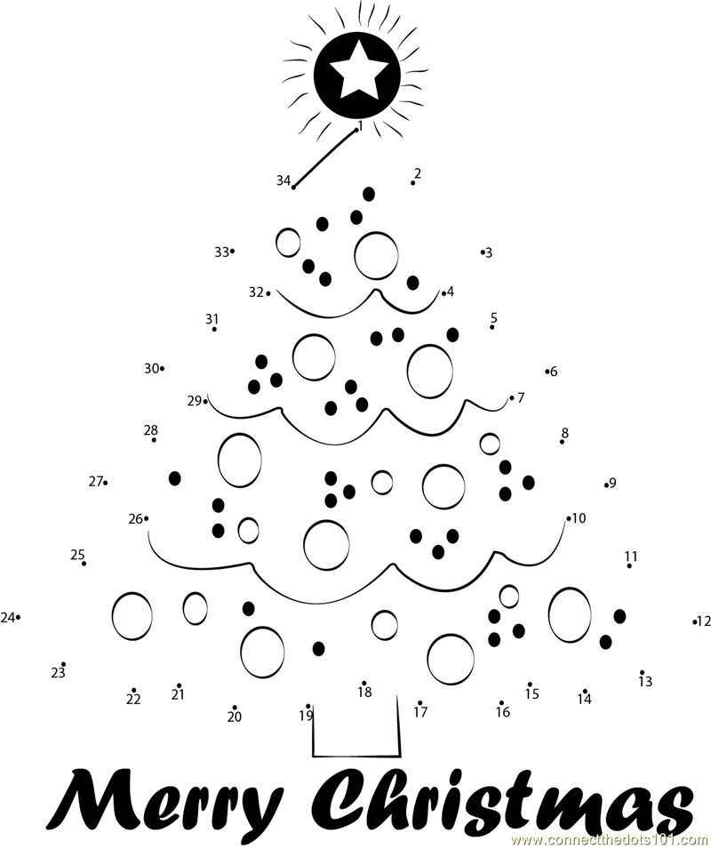 Connect The Dots Christmas Coloring