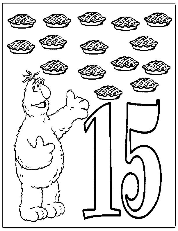 Number 15 Coloring Page Coloring Home