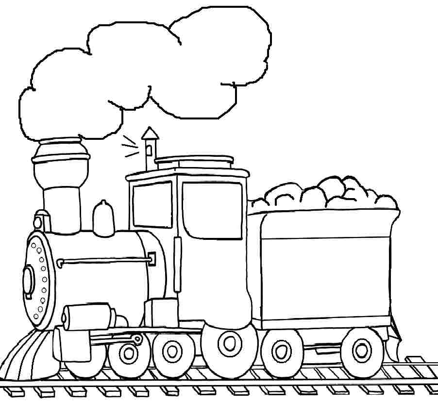 coloring pages trains preschoolers development - photo#18