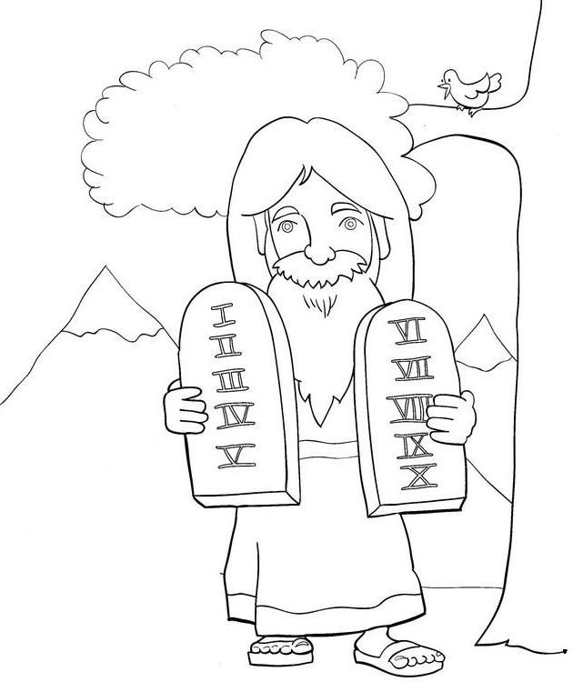 Ten Commandments Coloring Pages Coloring Home Ten Commandments Coloring Page