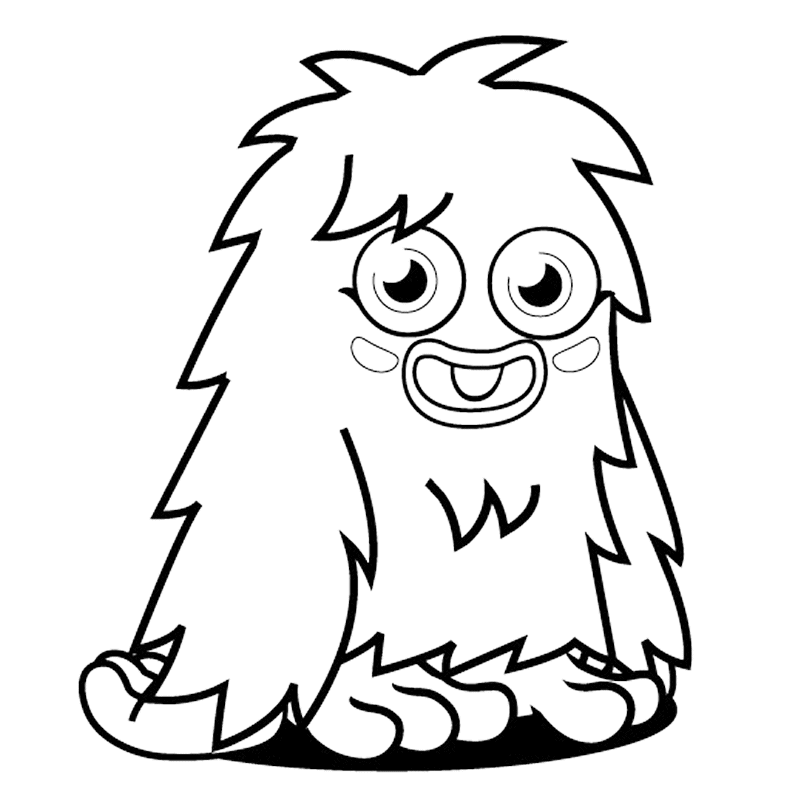 Character Drawings Portraits And Monsters: Moshi Monster Coloring Pages