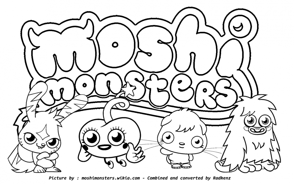 Moshi Monsters Coloring Pages Coloring Pages Yoall 139000 Moshi