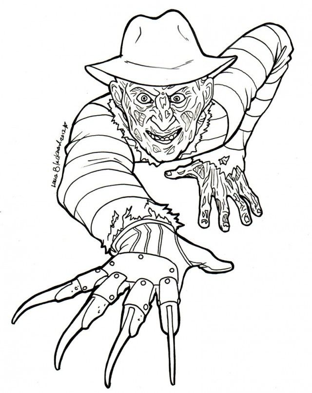 Freddy Krueger Coloring Pages