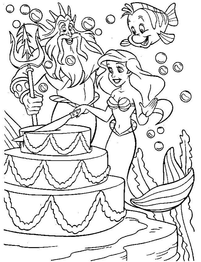 Coloring pages of pretty mermaids