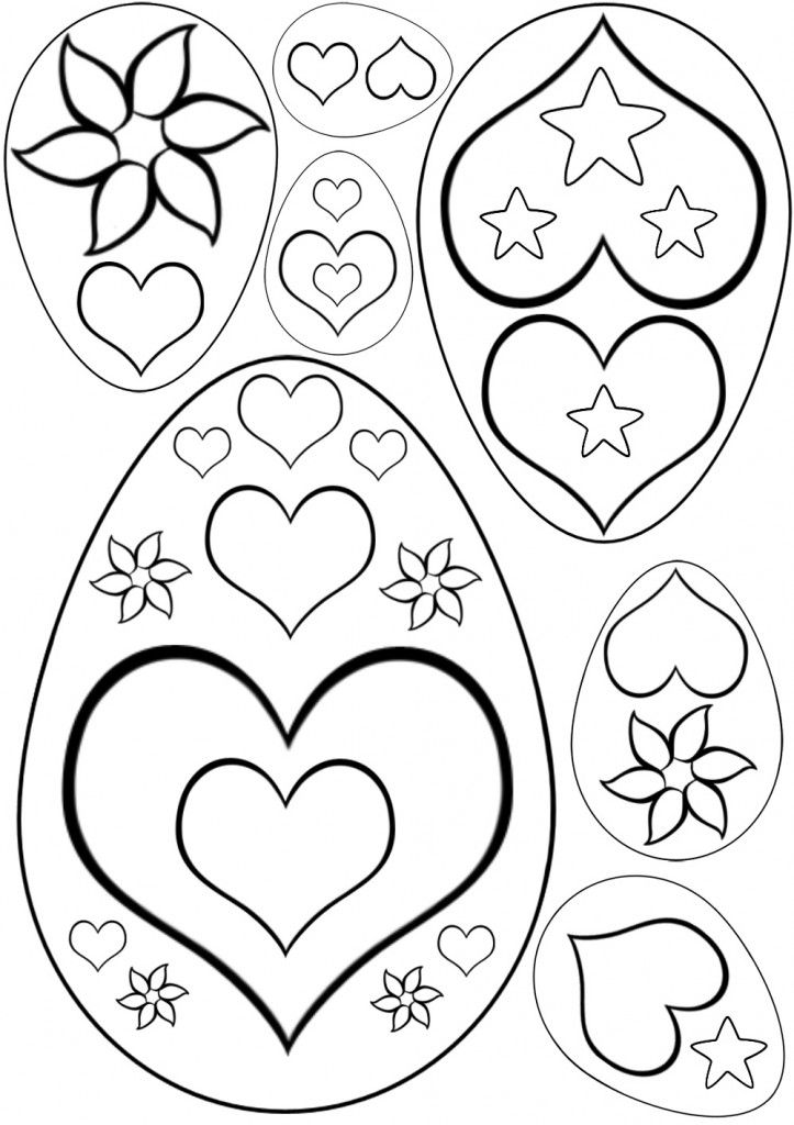 Easter egg patterns coloring home for Easter egg coloring pages printable