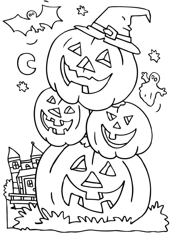 Spooky halloween coloring pages az coloring pages for Spooky halloween coloring pages