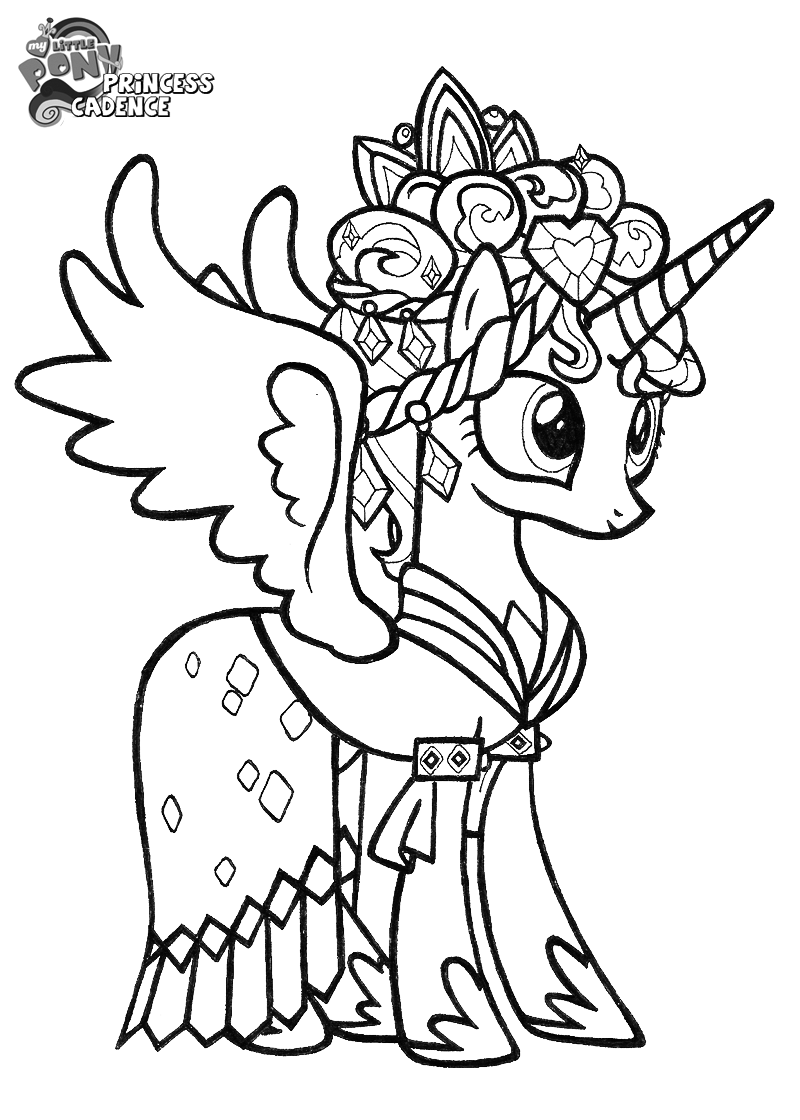 Princess Cadence Coloring Pages - Coloring Home