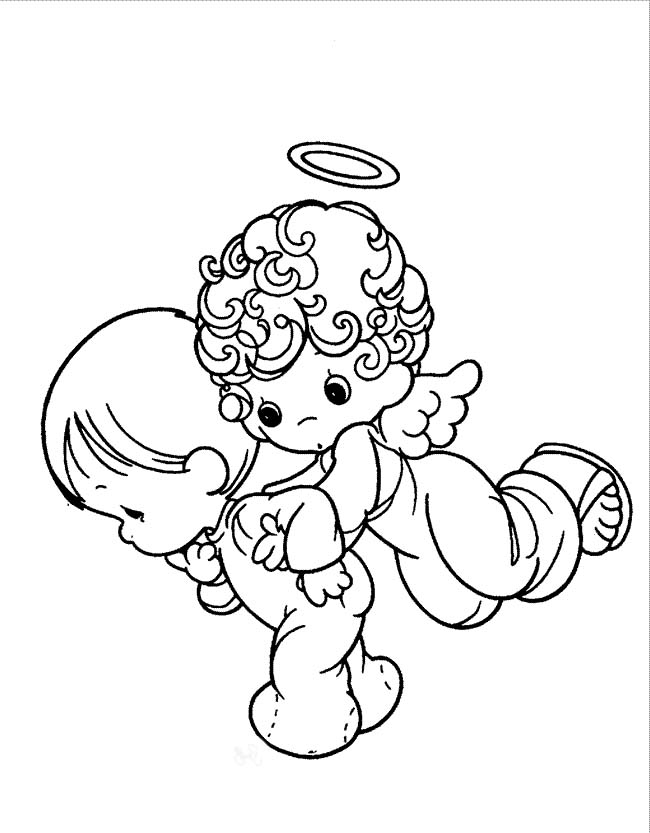 baby boy angel coloring pages - photo #4