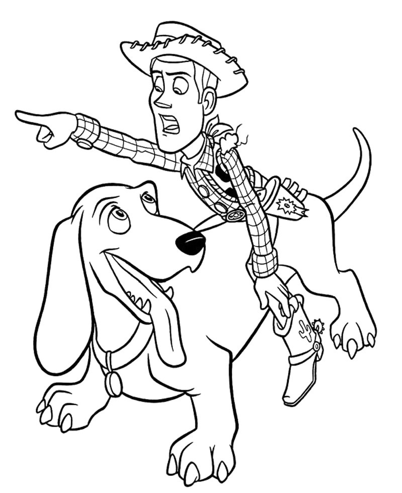 Toy Story Woody Coloring Pages - AZ Coloring Pages