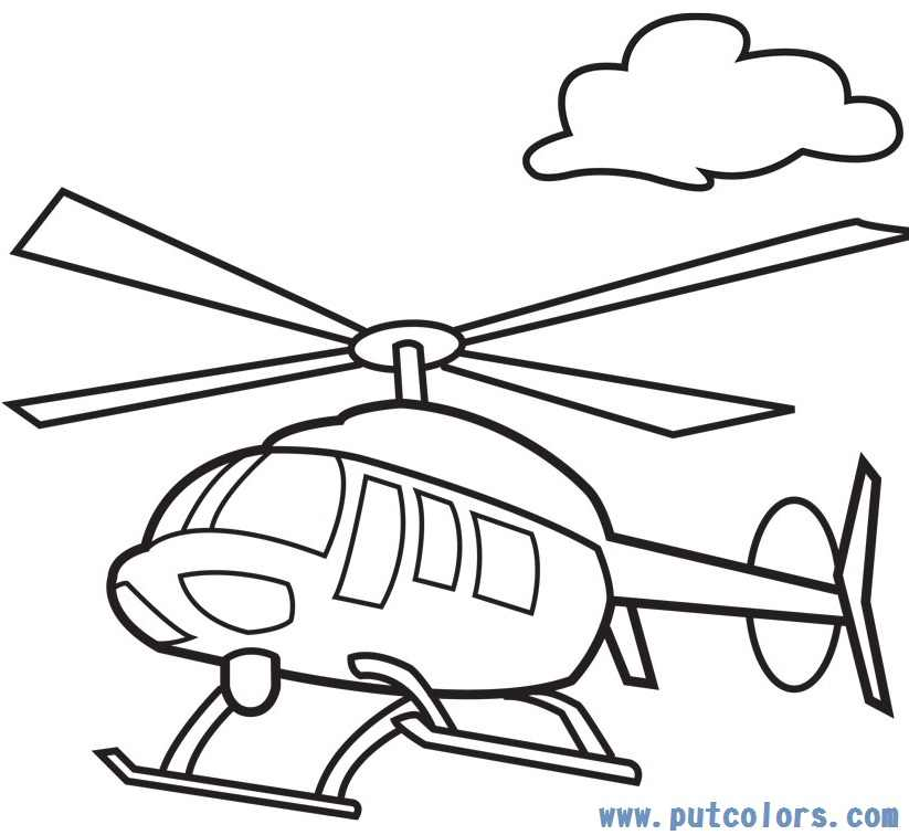 coloring pages helicopter - photo#4