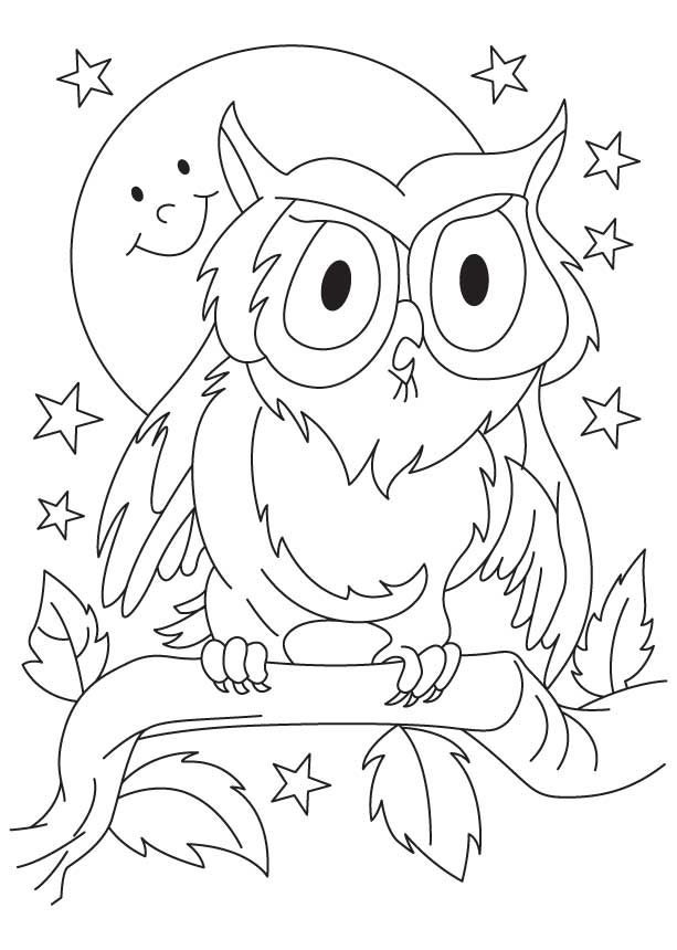 great horned owl coloring pages - photo#14