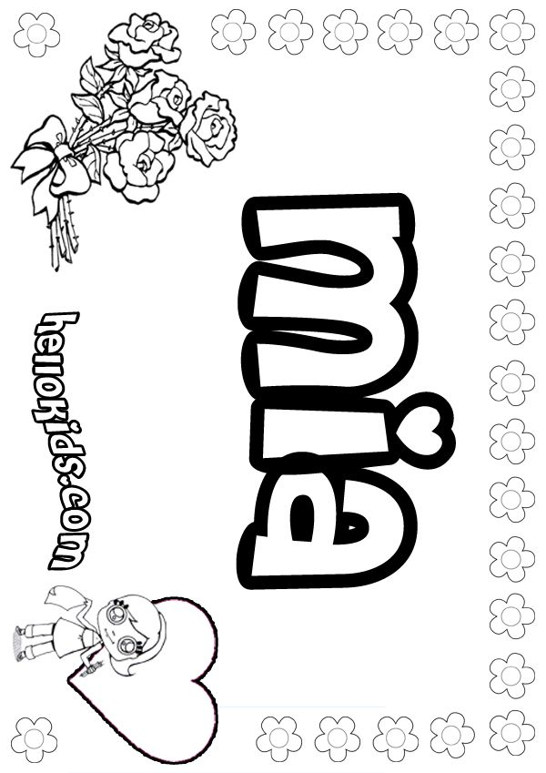 girl names coloring pages - photo#5