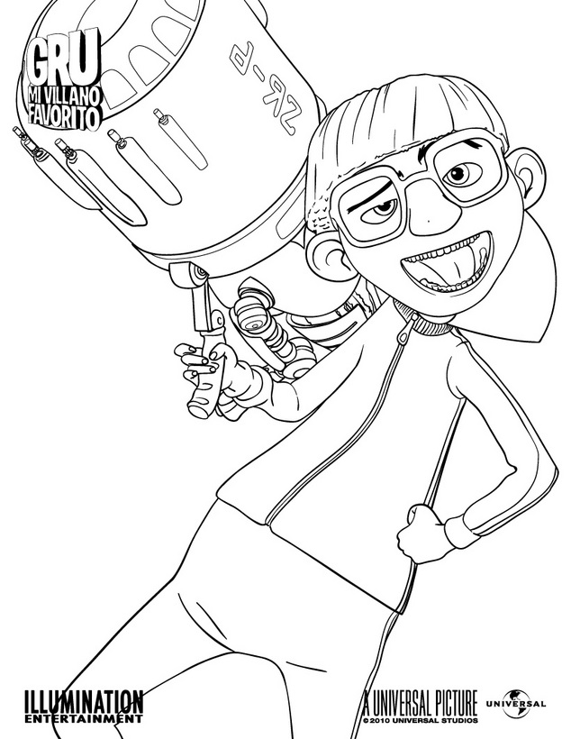 LAMINAS PARA COLOREAR - COLORING PAGES: Gru mi Villano Favorito