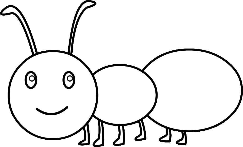 Kids Coloring Cute Ant Coloring Page Free Clip Art Cute Ant