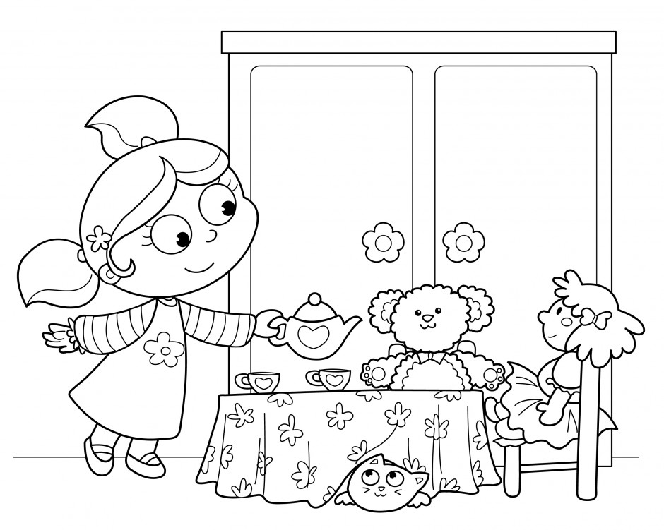 coloring pages party - photo#2