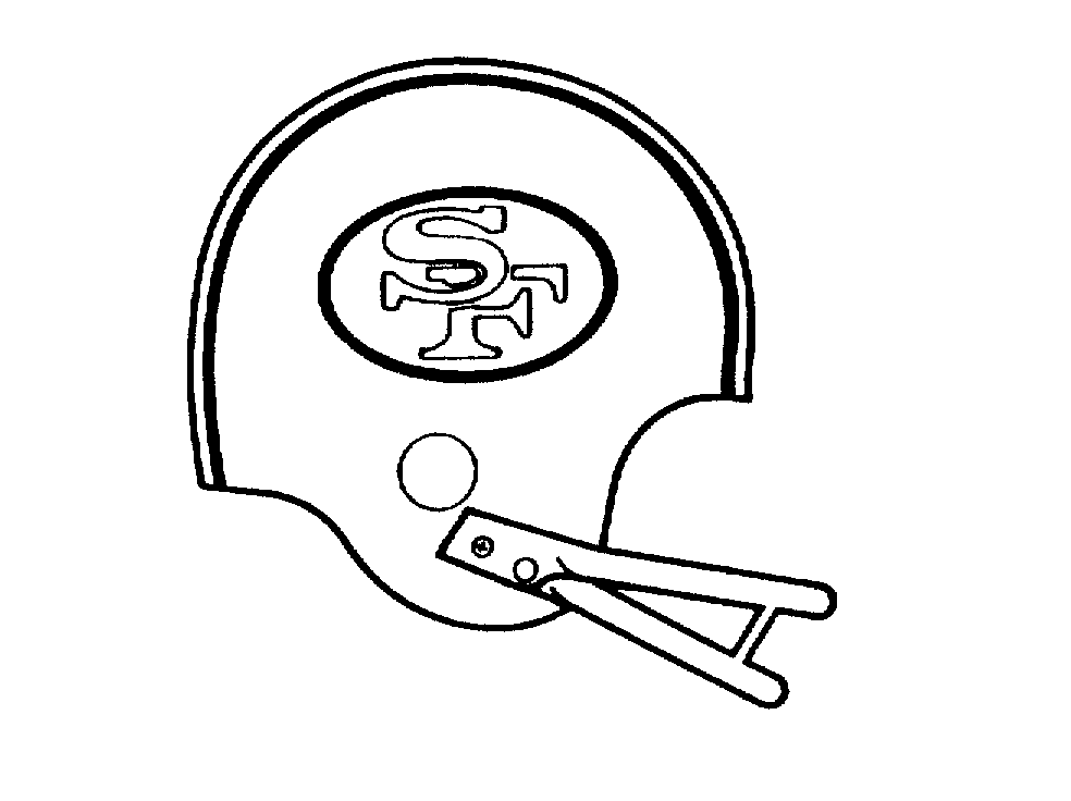 49ers helmet free colouring pages for Sf 49ers coloring pages
