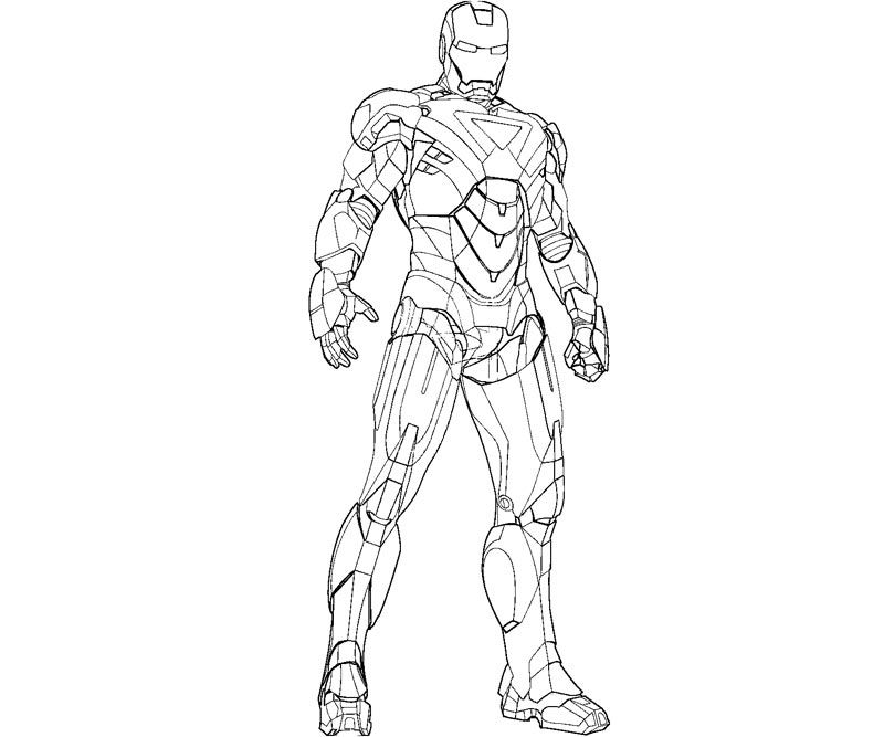 Iron Man 2 Coloring Pages For Kids