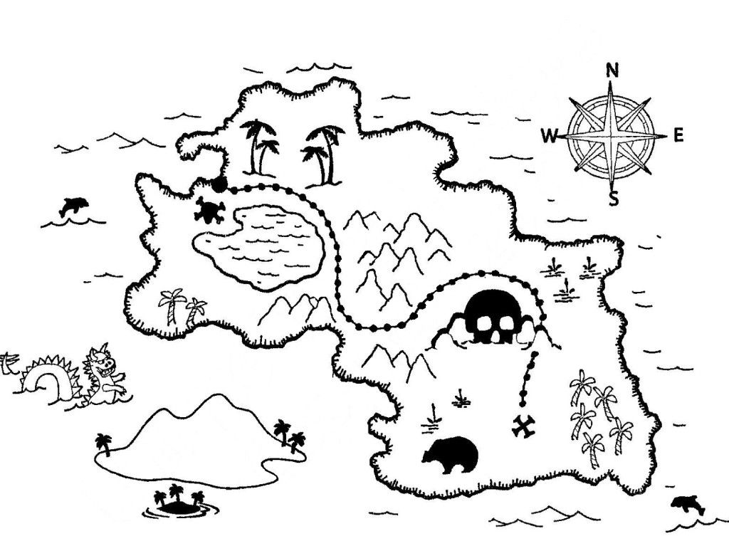 treasure map coloring pages coloring for kidscoloring for kids