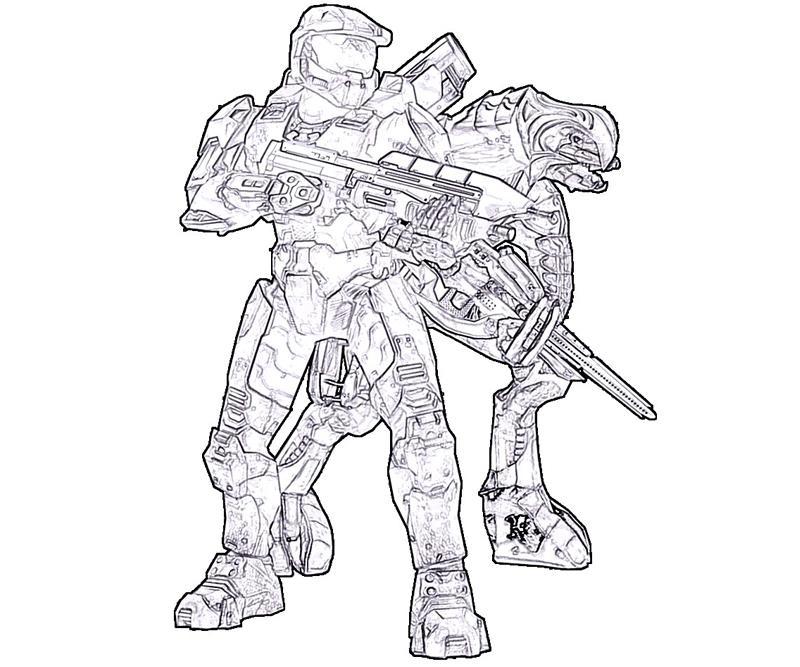 Halo Coloring Pages Pdf : Halo rookie armor yumiko fujiwara coloring home