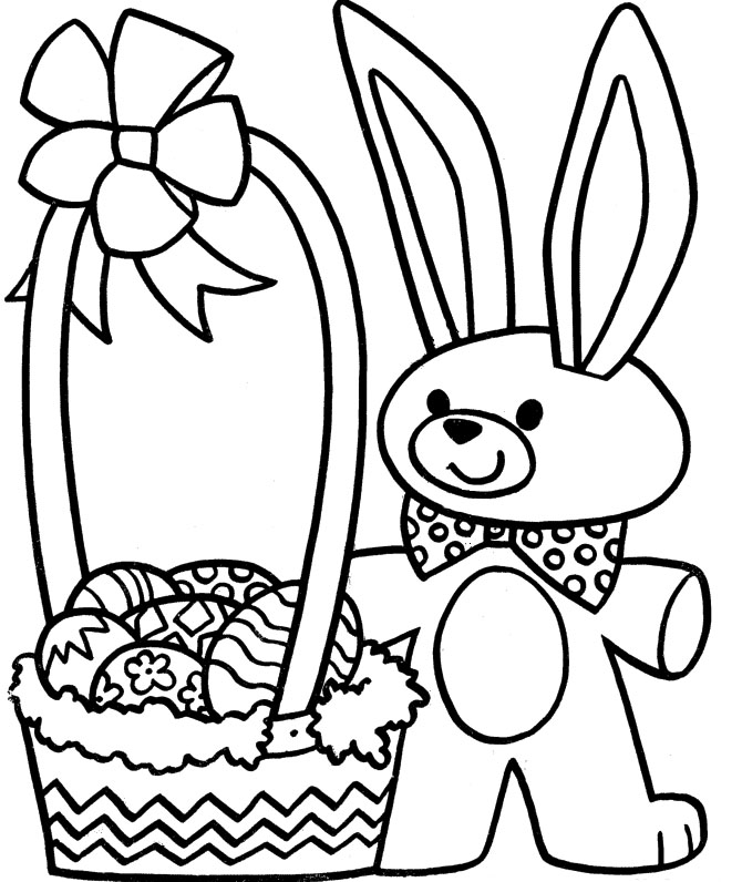 Easter Basket Printable Coloring Pages