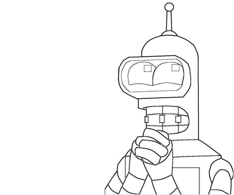 Bender Coloring Pages