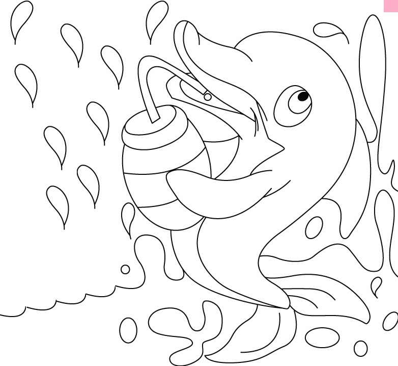 Dolphin Cute Coloring Pages
