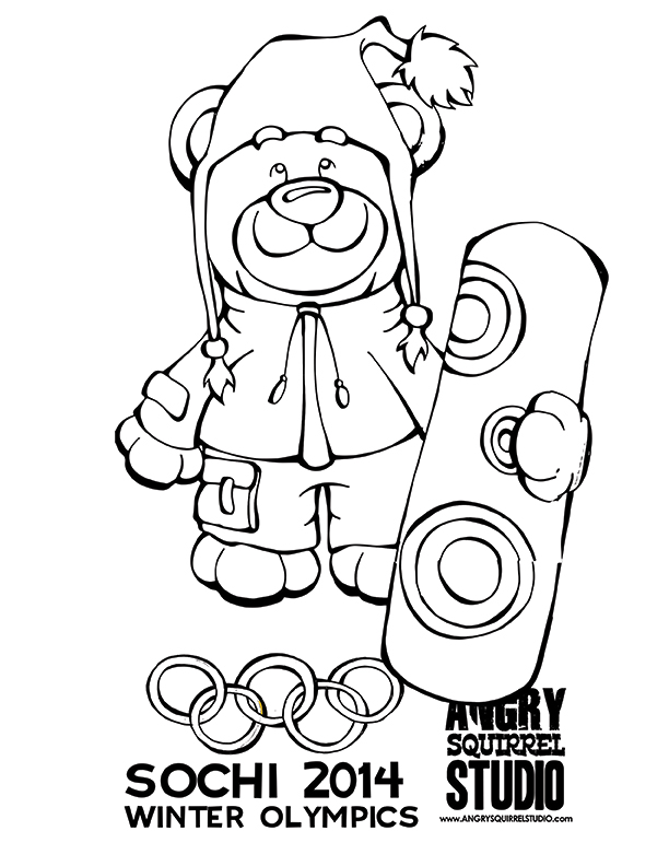 olympic games mascots coloring pages - photo#10