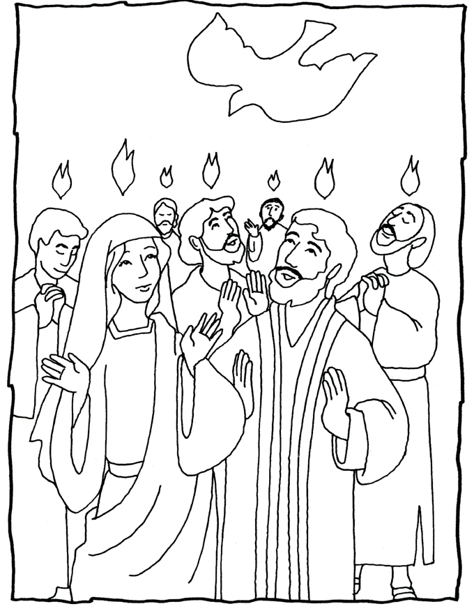 Pentecost Coloring Pages For Children