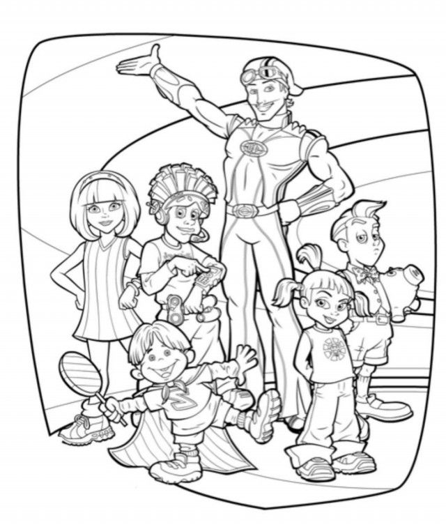 Colorear lazy town colorear para ni os 115962 lazytown for Lazy town coloring pages